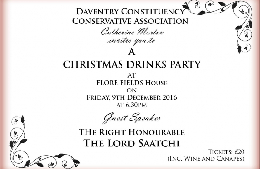 daventry conservatives christmas drinks party with the rt hon lord